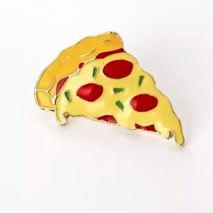Jewelry - NEW Pizza Gold Enamel Lapel Pin Brooch